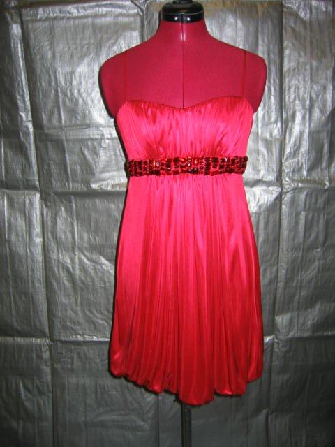 Size 5/6  Short Jeweled Crimson Bubble Dress   (#959)