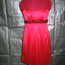 Size 5/6  Short Jeweled Crimson Bubble Dress   (#959)