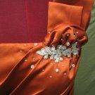 Size 8  NWT Burnt Orange Single Strap  *For the Beauty Queen in you*  (714-07)  $99.99