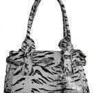 Tiger Print Flap Bag