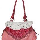 Top Zipper Studs Handbag