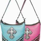 Top Zipper Cross Handbag