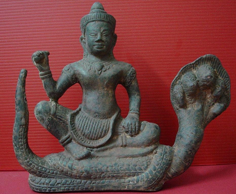 Vintage Khmer Angkor Buddha Statue