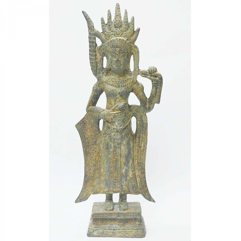 Home Decor Art Khmer Angkor Cambodian Buddha Statue Nang Teap Apsorn Figurine Dancing Art Style