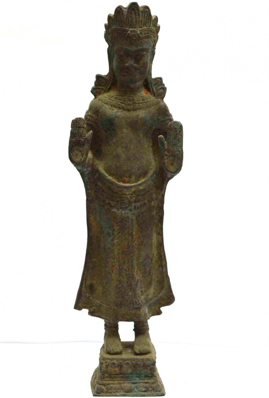 Asian Art Antique Khmer Buddha Statue Style Cambodia Angkor Wat