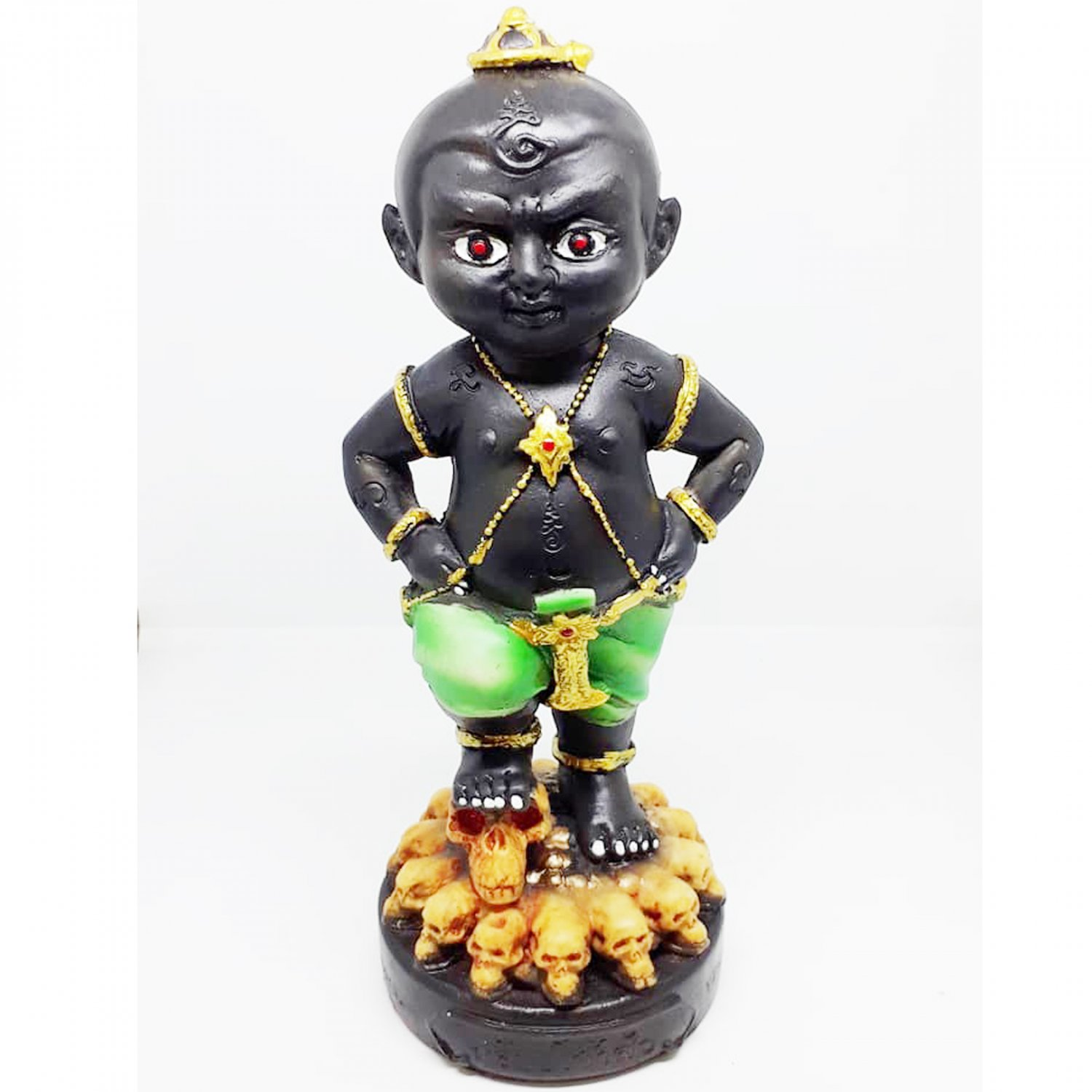 """4"""" Business Trader Amulet Statue Thai KumaanTong Midsaa Lucky Magic Pendant by Archan Manit"""