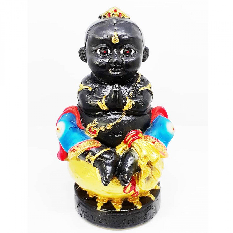 "4"" Business Trader Amulet Statue Thai KumaanTong Teap Prasit Pendant by Archan Manit"