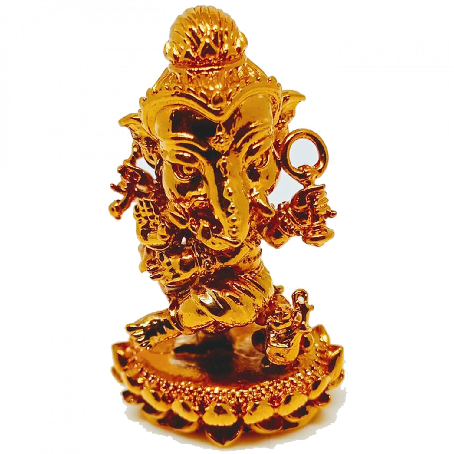 Thai Amulet Mini Lord Ganesha Statue Great God Hindu Pendant by Archan Amnarj Mahaweero