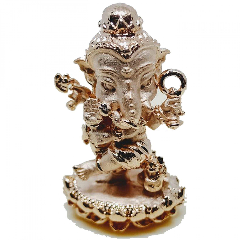 Thai Amulet Mini Lord Ganesha Statue Great God Hindu Pendant by Archan Amnarj Mahaweero