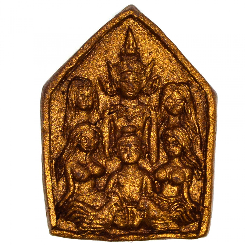 Magic Love Phra Khunpaen Gold Pendant Charming By Kruba Kampeng Charm Luck Love Attraction