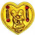 Kruba Kampeng's Amulet Inn Koo Couple Lover Pendant Charming