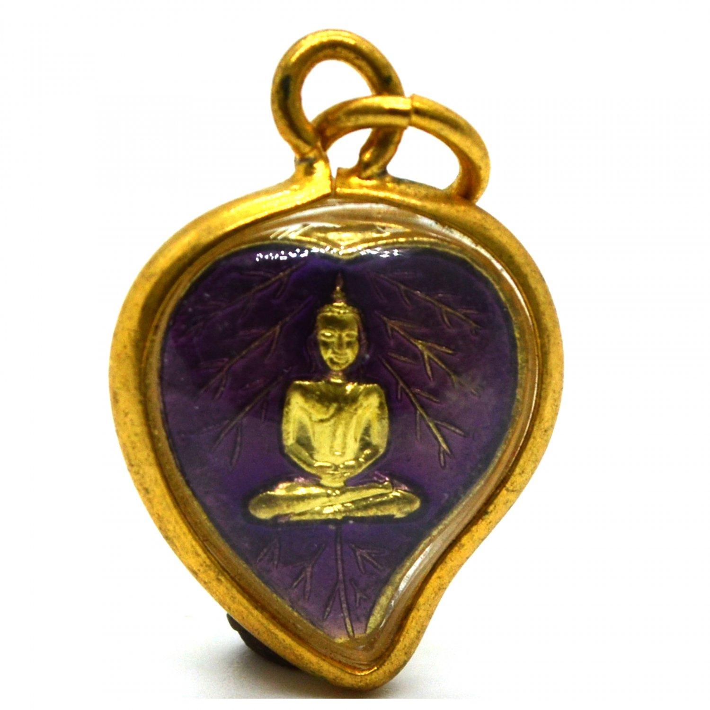 Thai Amulet Buddha Laung Phor Yai Baipho Talisman Magic Charm Pendant Luck Powerful