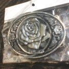 Rose / Flower / Floral Design Belt Buckle