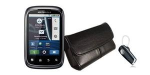 Bundle Deal Motorola XT300 Smartphone & H520 Bluetooth Headset & Hitfar Holster