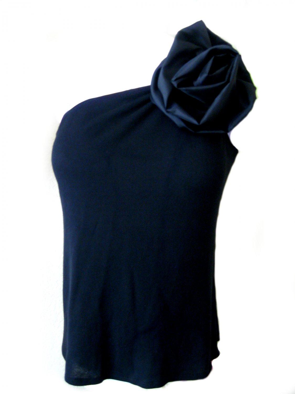 black one strap top/ Size:2XL
