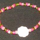 Bead & flower bracelet
