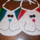 2-pc Playful Pals Bib Set - Bright Stripes