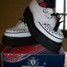 George Cox White Leather Brothel Creepers Shoes BNIB