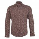Merc Indie Brown Polka Dot Slim Fit Button Down Shirt Mod RRP £55 M L XL XXL