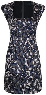 French Connection Pendragon Scoop Neck Fitted Cocktail Dress RRP £87 8 10 14