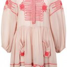 French Connection Tapestry Tanya Nude Pink Chiffon Blouse Top Smock RRP£87 10-14