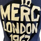 Merc London 1967 Grafton Navy T-Shirt Flock Target Print Mod Indie RRP£25