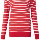 French Connection Cotton Dreaming Nautical Stripe Breton Jumper Sweater Red XS-M