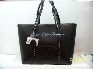 Chanel Black Caviar Shoulder Tote - Large