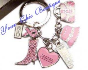 Coach Pink Keyring