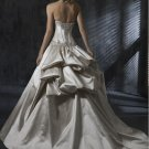 Custom Made- Bead & Sequin Embellished Strapless Wedding Dress Cocktail Bridesmaid Ball Prom Gown