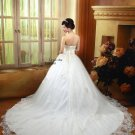 Custom Made- Beads Embellished Layered Wedding Dress Cocktail Bridesmaid Ball Prom Gown S4