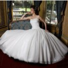 Custom Made- Beads Embellished Strapless Sweetheart Wedding Dress Cocktail Bridesmaid Ball Prom Gown