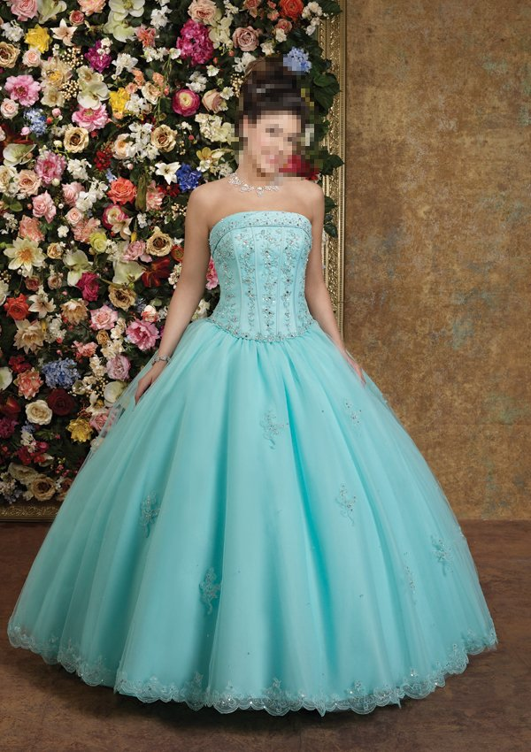 Custom Made- Beads Embellished Strapless Sexy Wedding Dress Cocktail Bridesmaid Ball Prom Gown Q2