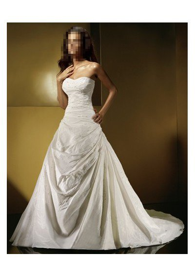 Custom Made- Beads Embellished Strapless Sexy Wedding Dress Cocktail Bridesmaid Ball Prom Gown Q7