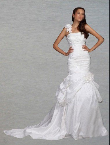 Custom Made- Chapel Train Single Aglet D'tring Wedding Bride Dress Cocktail Bridesmaid Ball Prom Y