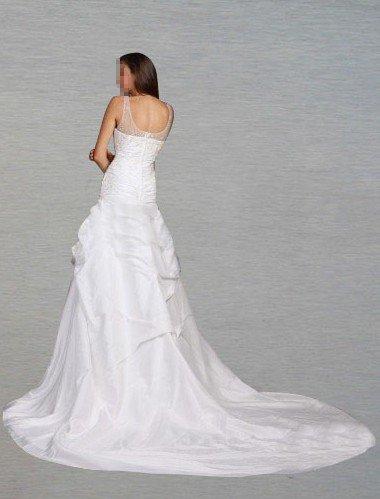 Custom Made- Chapel Train Zip Back Shape Figure Wedding Bride Dress Cocktail Bridesmaid Ball Prom Y