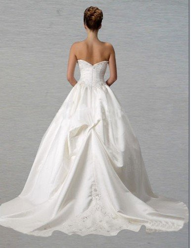 Custom Made- Chest Warp Off-Shoulder Zipper Wedding Bride Dress Cocktail Bridesmaid Ball Prom Y