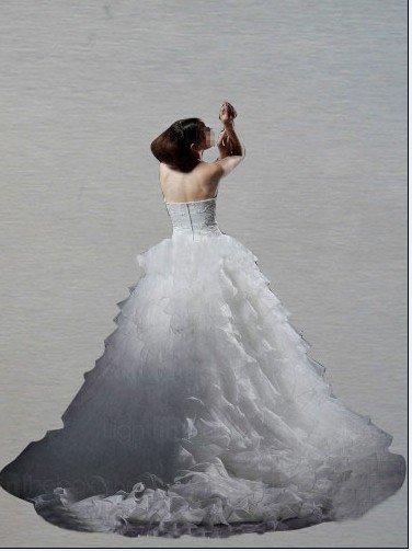 Custom Made- Multilevel Cheat Warp Floor-Length Wedding Bride Dress Cocktail Bridesmaid Ball Prom Y