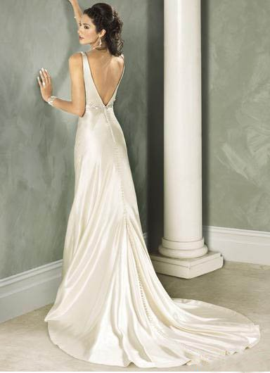 Custom Made- Deep V-Neck Beads Embellish Wedding Bride Dress Cocktail Bridesmaid Ball Prom Y