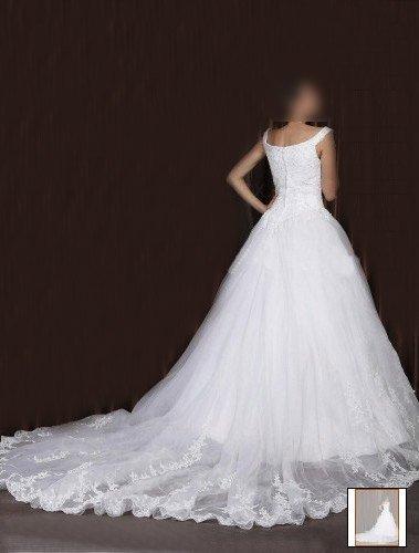 Custom Made- Elegant & Luxury Chapel Train Sexy Wedding Bride Dress Cocktail Bridesmaid Ball Prom