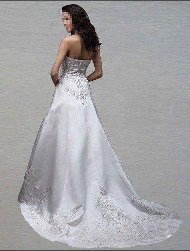 Custom Made- Embroidery Floor-Length Sleeveless Wedding Bride Dress Cocktail Bridesmaid Ball