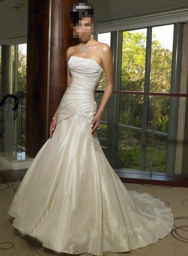 Custom Made- Sexy Embellish Pleat Strapless Wedding Bride Dress Cocktail Bridesmaid Ball Prom S7