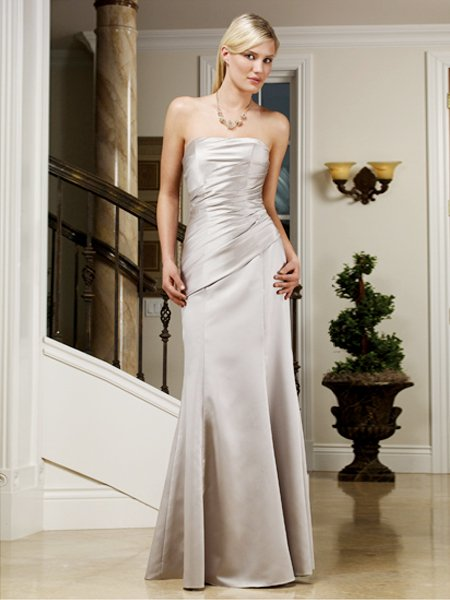 2011 Elegant Strapless Cocktail Dress Sexy Formal Evening Dress Bridesmaid Wedding