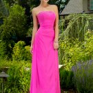 Elegant Pink Strapless Beadings Long Evening Formal Dress Prom Bridesmaid Wedding
