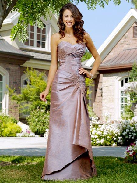 Formal Elegant Grey Sweetheart Pleated Long Evening Dress 2011 Prom Bridesmaid Wedding