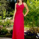 Elegant Red Halter Beadings Evening Dress Formal Prom Bridesmaid Wedding