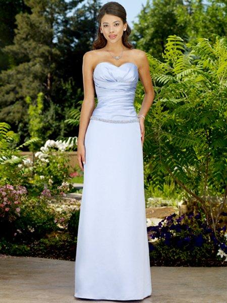Elegant Silver Strapless Sweetheart Evening Dress Prom Bridesmaid Wedding