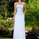 Elegant Silver Strapless Sweetheart Evening Dress Prom Bridesmaid Wedding