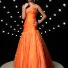 Elegant Orange Strapless Beading Mermaid Evening Dress Cocktail Prom Bridesmaid Wedding