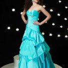 A1 Sweetheart Strapless Empire Waist Ruffles Ball Gown Dress Cocktail Prom Bridesmaid Wedding